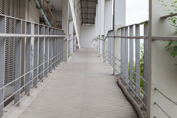 ramp way for disabled people through building