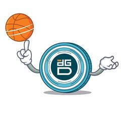 With basketball DigixDAO coin character cartoon