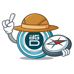 Explorer DigixDAO coin mascot cartoon