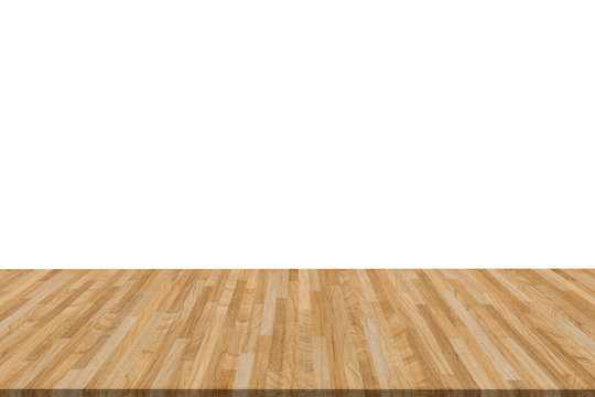 perspective vintage wood isolated on white background