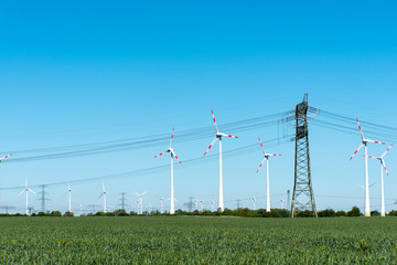 Renewable energy and transmission lines seen in Germany