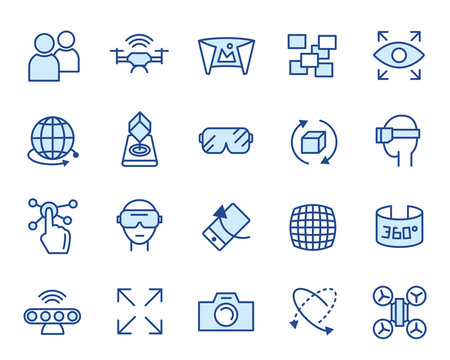 Augmented Reality Vector Icon Set