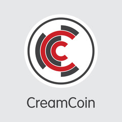 Creamcoin - Virtual Currency Illustration.