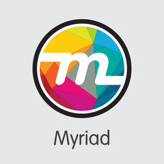 Myriad Cryptocurrency - Vector Illustration.