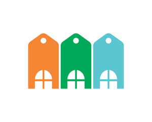 label housing home residence residential real estate icon image vector