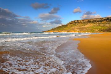 Beautiful Ramla Bay on Gozo island, Malta