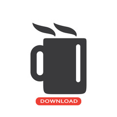 Coffee hot jar icon