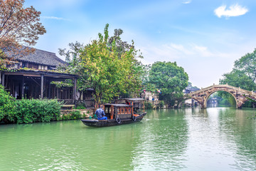 Wuzhen's beautiful rivers and ancient architectural landscapes