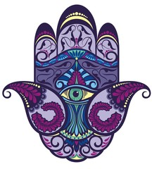 Hamsa hand icon illustration