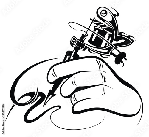 tattoo artist tattoo machine stock image and royalty free vector rh eu fotolia com  tattoo machine clip art