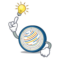 Have an idea Factom coin mascot cartoon