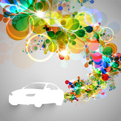Colorful car vector illustration