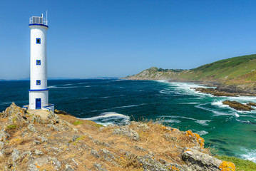 Fototapeten Leuchtturm Lighthouse of cape Home, Pontevedra, Spain