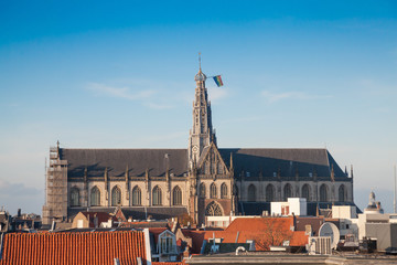 Cathedral of St. Bavo in Haarlem city
