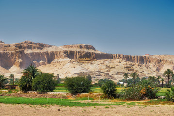 A view of the Valley of the Kings from the Nile from the side of Assuan. Photo taken while on holiday on a trip to Egypt