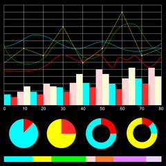 Stock graph index vector icon for business finance graphic illustrator background.