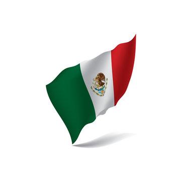 Mexican flag, vector illustration