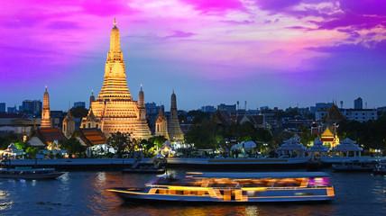 Poster Bangkok Wat Arun Ratchawararam, a Buddhist temple in Bangkok, Thailand