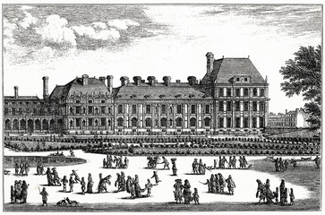 Tuileries Palace (from Spamers Illustrierte Weltgeschichte, 1894, 5[1], 689)