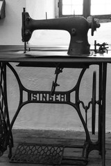 """An antique manual """"Singer"""" treadle sewing machine"""
