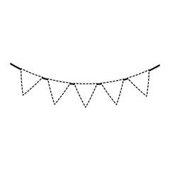 party garland decorative hanging vector illustration design