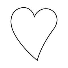 heart love sticker art vector illustration design