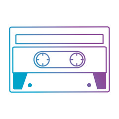 retro cassette sticker icon vector illustration design