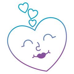 heart love kawaii character vector illustration design