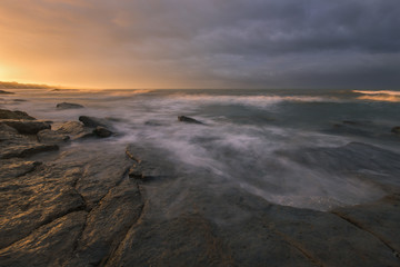 Sunrise at coast.