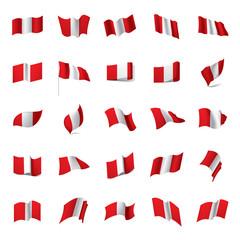 Peru flag, vector illustration