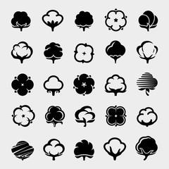 Cotton set. Vector