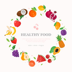 Healthy food - modern colorful vector illustration