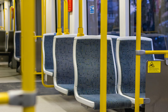 manchester metrolink tram interior