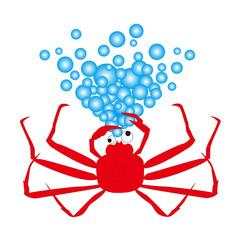 泡を吹く蟹