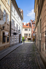 Historical buildings in old town in Prague, Czech republic