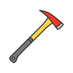 Fire axe color icon
