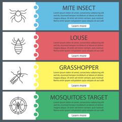 Pest control web banner templates set