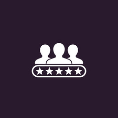 Customer review, consumer rating icon
