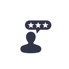 Customer reviews, feedback icon