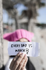 woman and the text every day is march 8