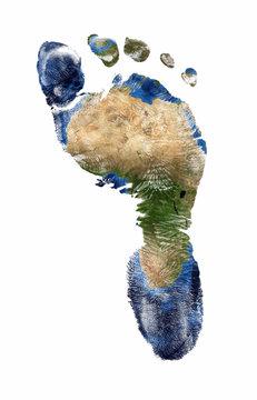 Foot print of Africa