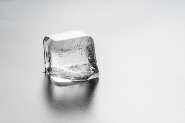 Close up of a Single Ice Cube