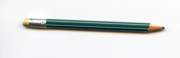 Graphite pencil with attached eraser