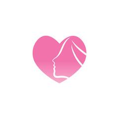 Spa aesthetic logo design template vector