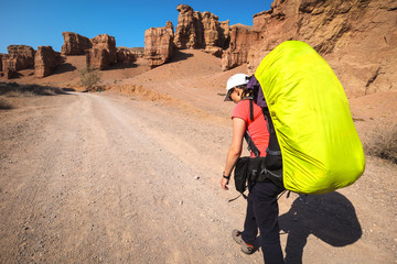 Beauty of Charyn canyon in Kazakhstan.