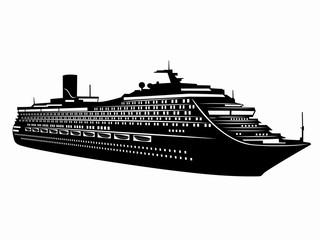 illustration of passenger ship. vector drawing