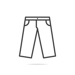 Pants icon vector isolated