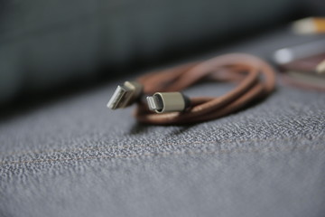 Leather charging cable