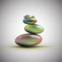 Spa stones, vector.
