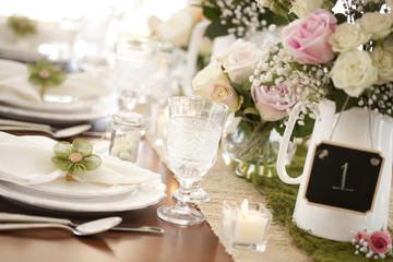 Easter spring elegant dining table